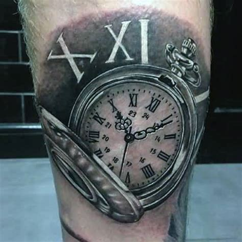 tattoo of us watch series outstanding awesome pocket watch with real rose tattoo