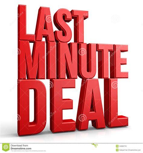 last minute deal stock illustration image of