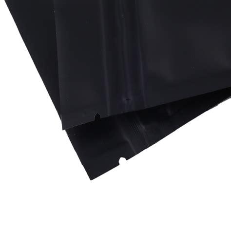 matte mylar sided black matte metallic mylar flat ziplock bag 7