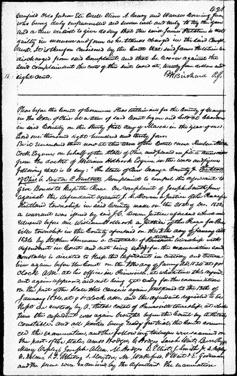 Geauga County Court Records Documents Re D P Hurlbut 1834 86 Ohio