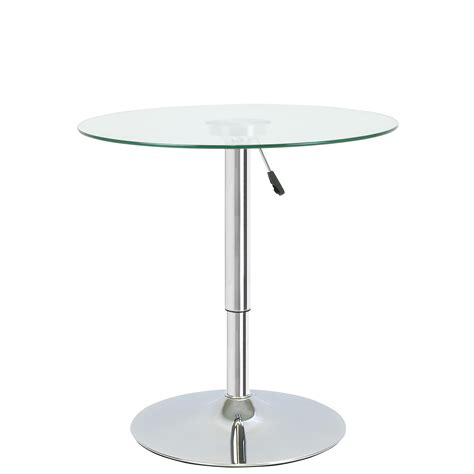 Glass Breakfast Bar Table Adjustable Clear Glass Bistro Dining Table Cafe High Breakfast Bar Ebay