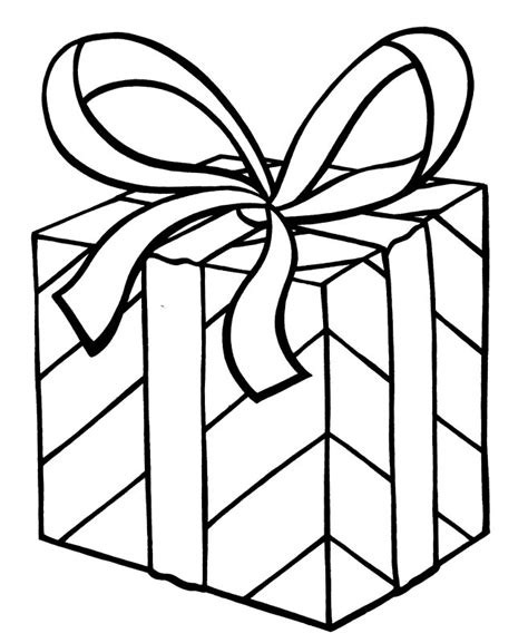 present coloring page printable christmas coloring pages