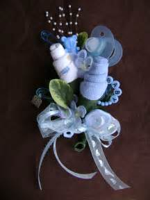 baby shower corsage baby boy washcloth corsage by nonisniche