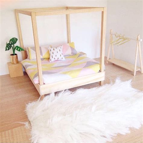 dollshouse four poster bed modern miniatures