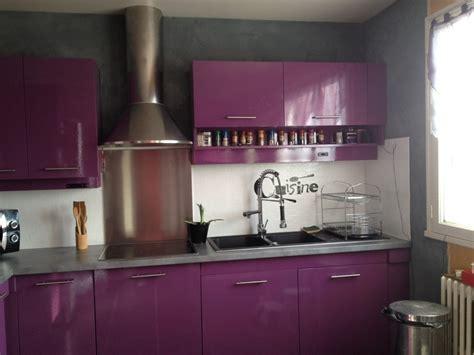 Cuisine Violet Et Gris by Cuisine Photo 2 4 3503781