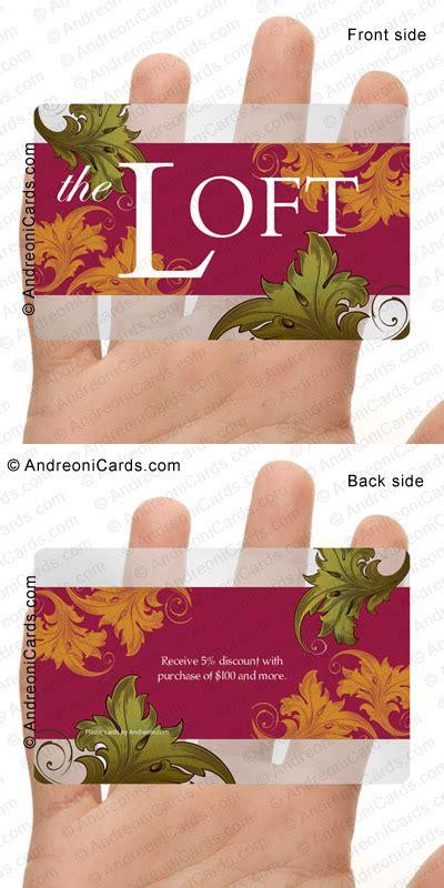 Loft Gift Card Discount - clear plastic discount card design sle loft