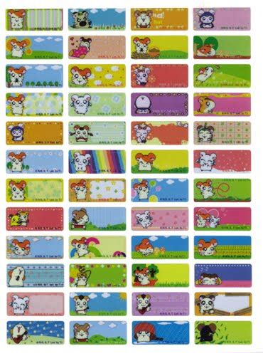 Doraemon Sticker Name Label Small sticking around color name sticker d26 22 9mm
