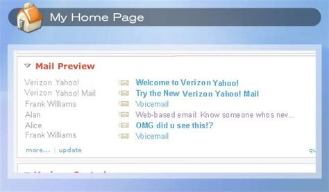 verizon yahoo dsl product tour my home