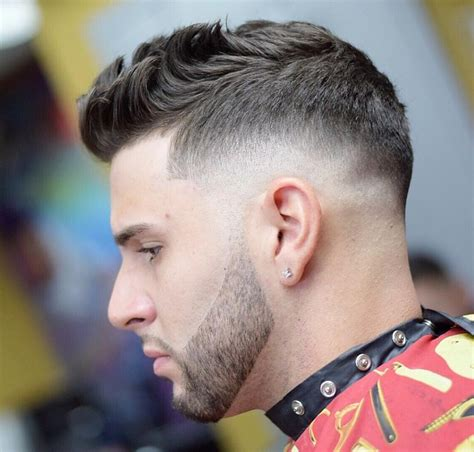 mens hair front flip 40 top taper fade haircut for men high low and temple