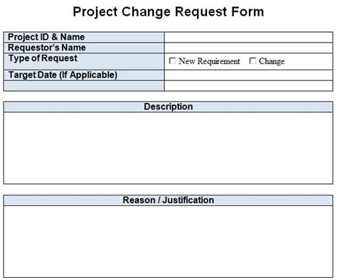 Project Change Request Template Excel Word Template124 Project Request Template Excel