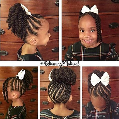 hairstyles with bubble top and back twisted ponytail hairstyles for little black girls www