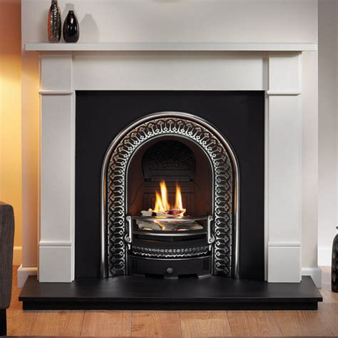 Brompton Limestone Fireplace by Gallery Brompton Limestone Fireplace With Regal Cast Iron
