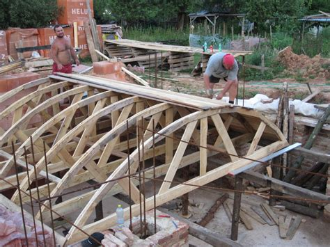 best way to build a house building a cross barrel vaulted ceiling