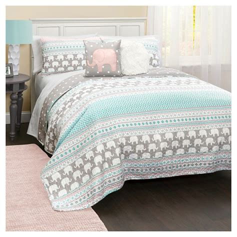 target bedding sets for elephant stripe quilt bedding set target