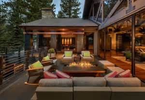 luxury patio home plans modern mountain lake tahoe contemporary deck
