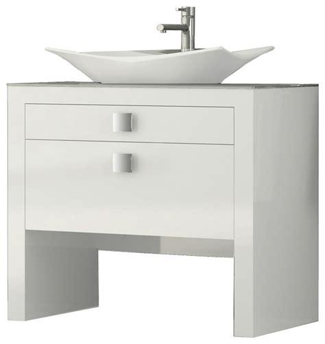 Houzz Bathroom Vanity Shop Houzz Macral Design Corp Daytona 40 Quot Bathroom Vanity White High Gloss Bathroom