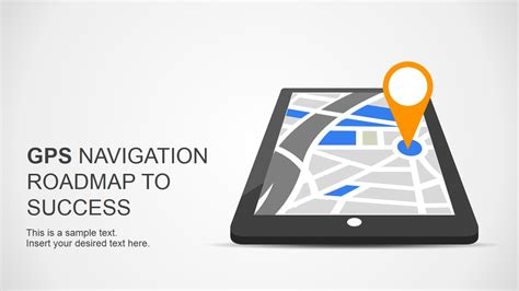 roadmap to success slides for powerpoint with gps