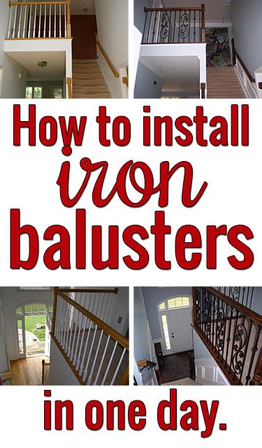 How To Install A Stair Banister by How To Install Iron Balusters View Along The Way