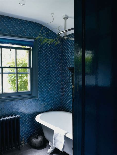 White Tiled Bathroom Ideas 40 dark blue bathroom tile ideas and pictures