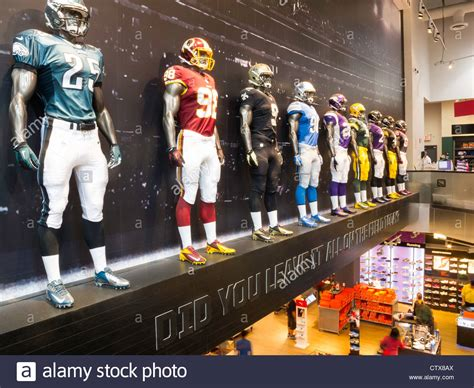 anthropologie store interior nyc stock photo royalty free image 60960993 alamy nfl uniforms mannequins modell s sporting goods store