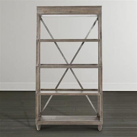etagere 6 stöckig bookcase stressed brown bassett home furnishings