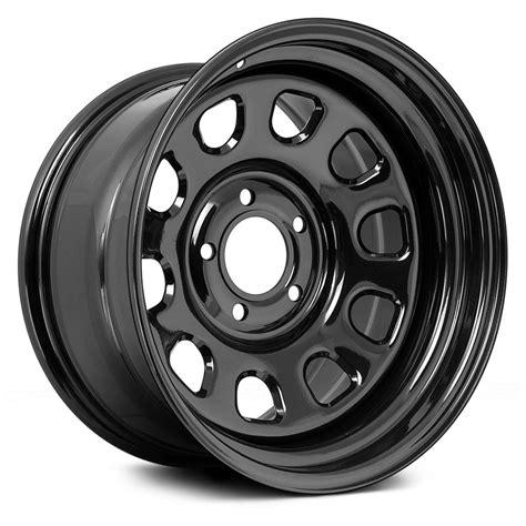 rugged ridge steel wheels rugged ridge 174 d window wheels black rims