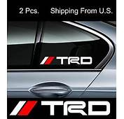 2 TRD Stickers Decals Mirror Window Toyota Tacoma Corolla