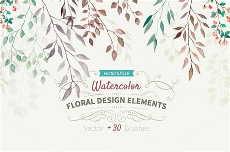 design elements watercolor watercolor design elements objects on creative market