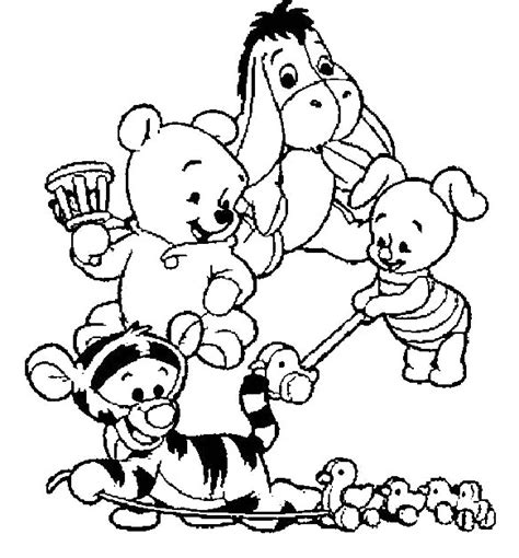 coloriage winnie the pooh baby