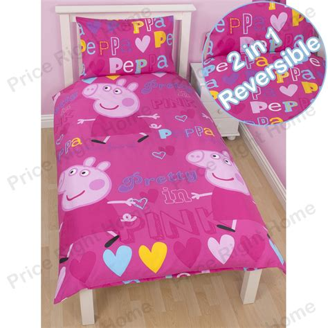 peppa pig bed linen peppa pig and george bedding single junior