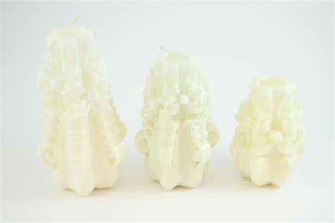 candele intagliate candela intagliata nastro bianco candele shop