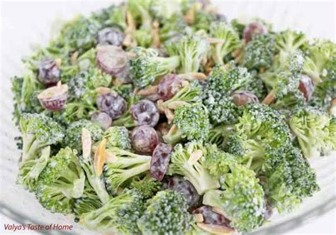 broccoli salad with grapes and almond slivers recipe valya s