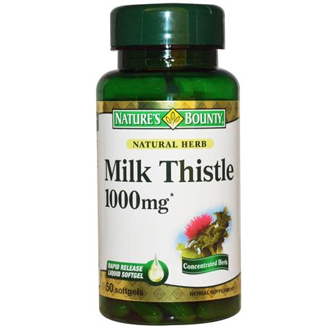 milk thistle for dogs nature s bounty milk thistle 1000 mg 50 softgels iherb