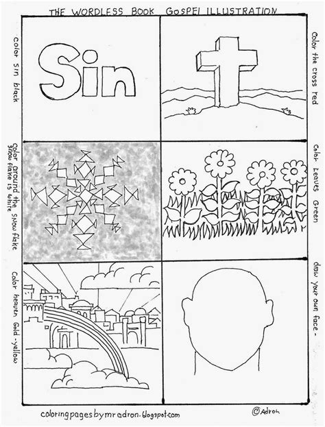 plan of salvation page coloring pages