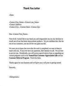 Thank You Letter For For Thank You Letters For Appreciation Thank You Letters For Appreciation 9 Free