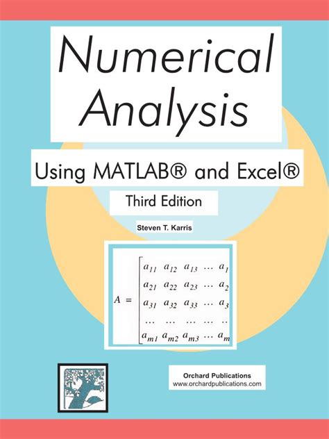 fabrication layout development by numerical method books numerical analysis using matlab and excel third edition