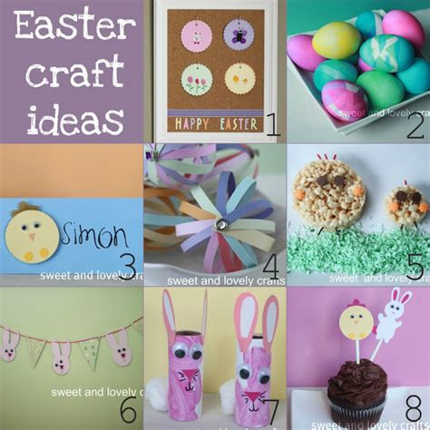ideas for easter sweet and lovely crafts easter craft ideas
