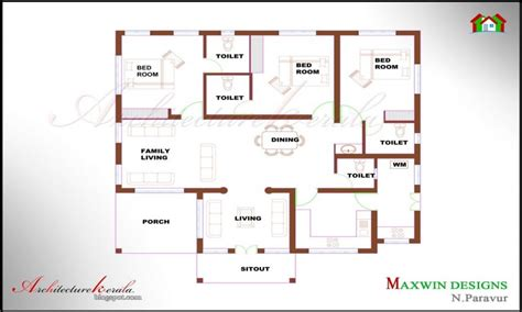 kerala style home design and plan kerala style 3 bedroom single floor house plans elegant 3