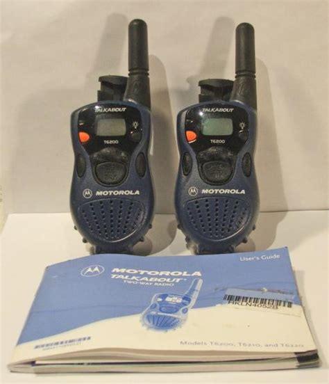motorola t6200 talkabout walkie talkies two way radios belt ebay