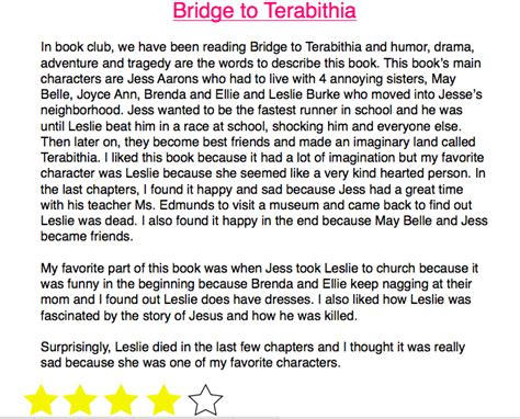 book report on bridge to terabithia bridge to terabithia book report 28 images bridge to