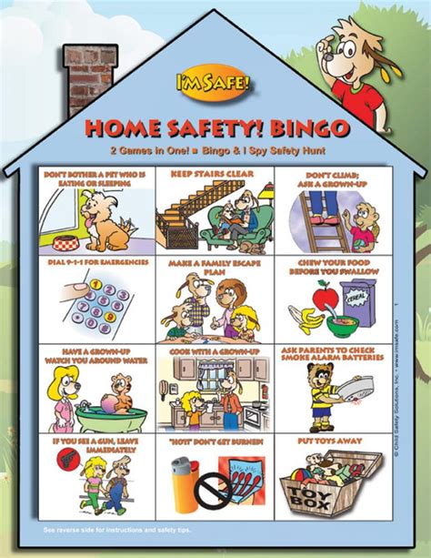 5 1713 home safety bingo i m safe