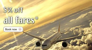 emirates flight code emirates 5 off air fares coupon promo code 18 21 nov 2011
