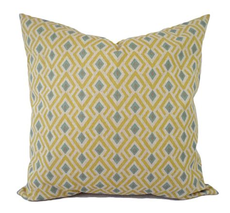 blue yellow pillows yellow and blue decorative pillow covers two geometric throw