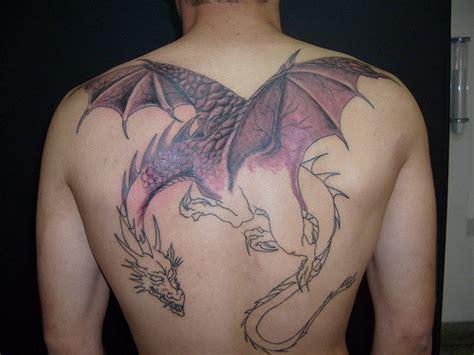 medieval dragon backpiece tattoo white por enquanto somente 2 sess 245 es