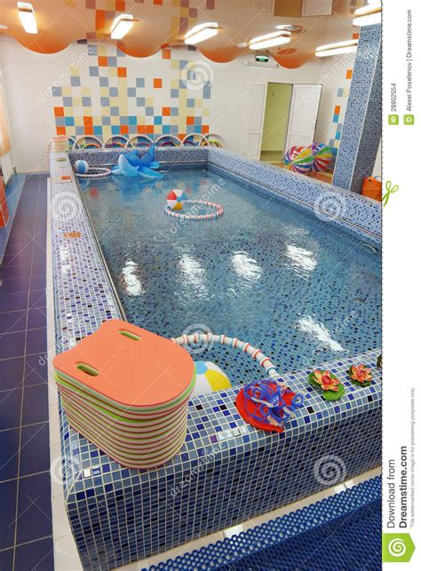 swimming pool   kindergarten stock photo image