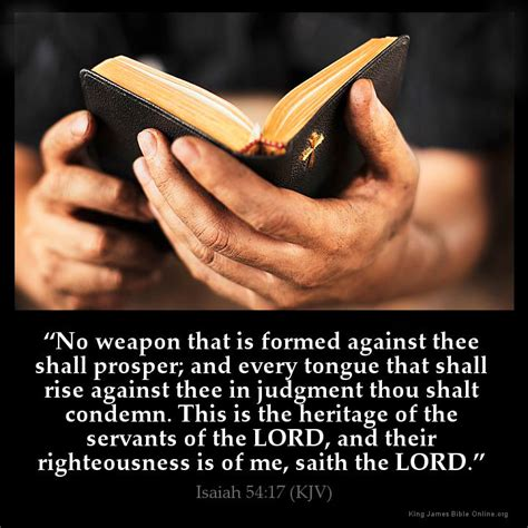 no weapon formed against thee shall prosper isaiah 54 17 inspirational image