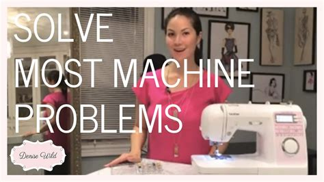 How To Solve Sewing Machine Tension Issues (Video