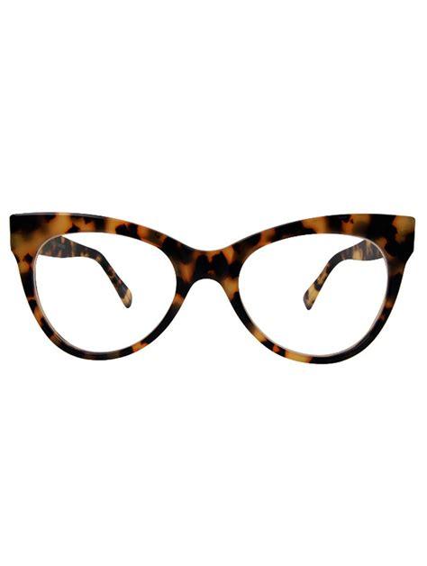 norma kamali square cat eye glasses tokyo tort in brown lyst