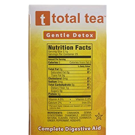 Garden Of 10 Day Gentle Detox Pills by Total Tea Gentle Detox Tea 25 Herbal Tea Bags May Help