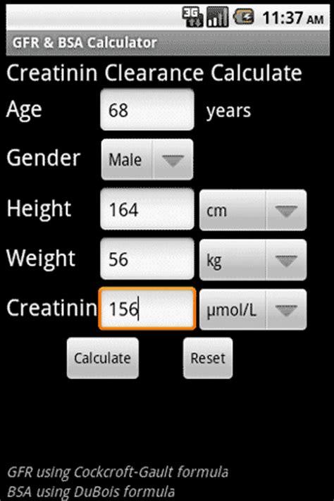 calculator gfr gfr bsa calculator android apps on google play